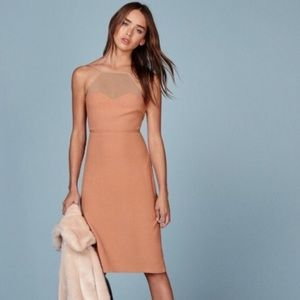 Reformation Margot Dress in Buff NWT Size 2